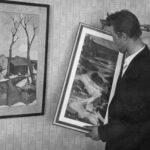 Utställning förbereds ca 1960